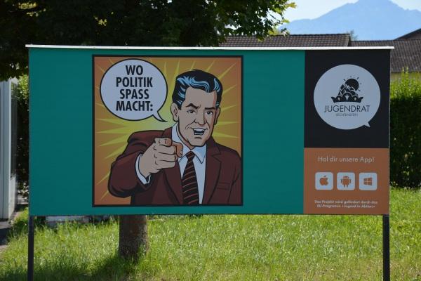 Plakat in Schaan (FL)