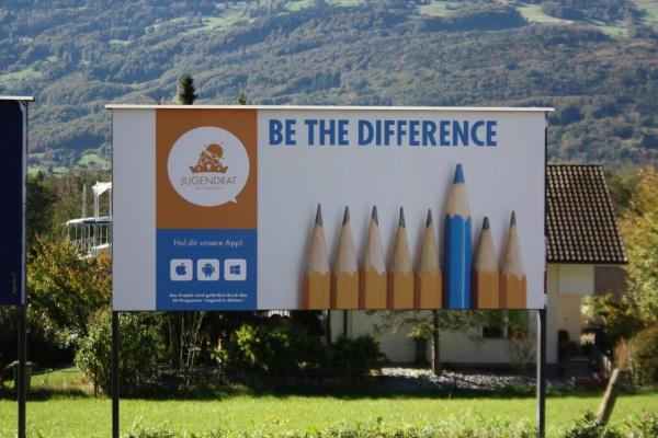 Plakat in Vaduz