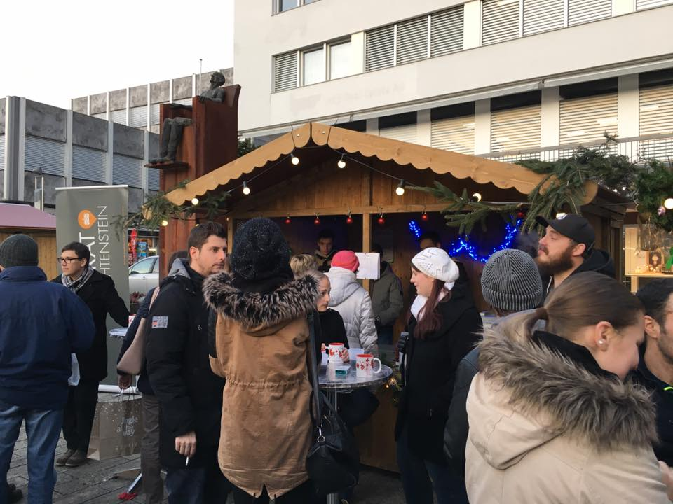Stand am Weihnachtsmarkt