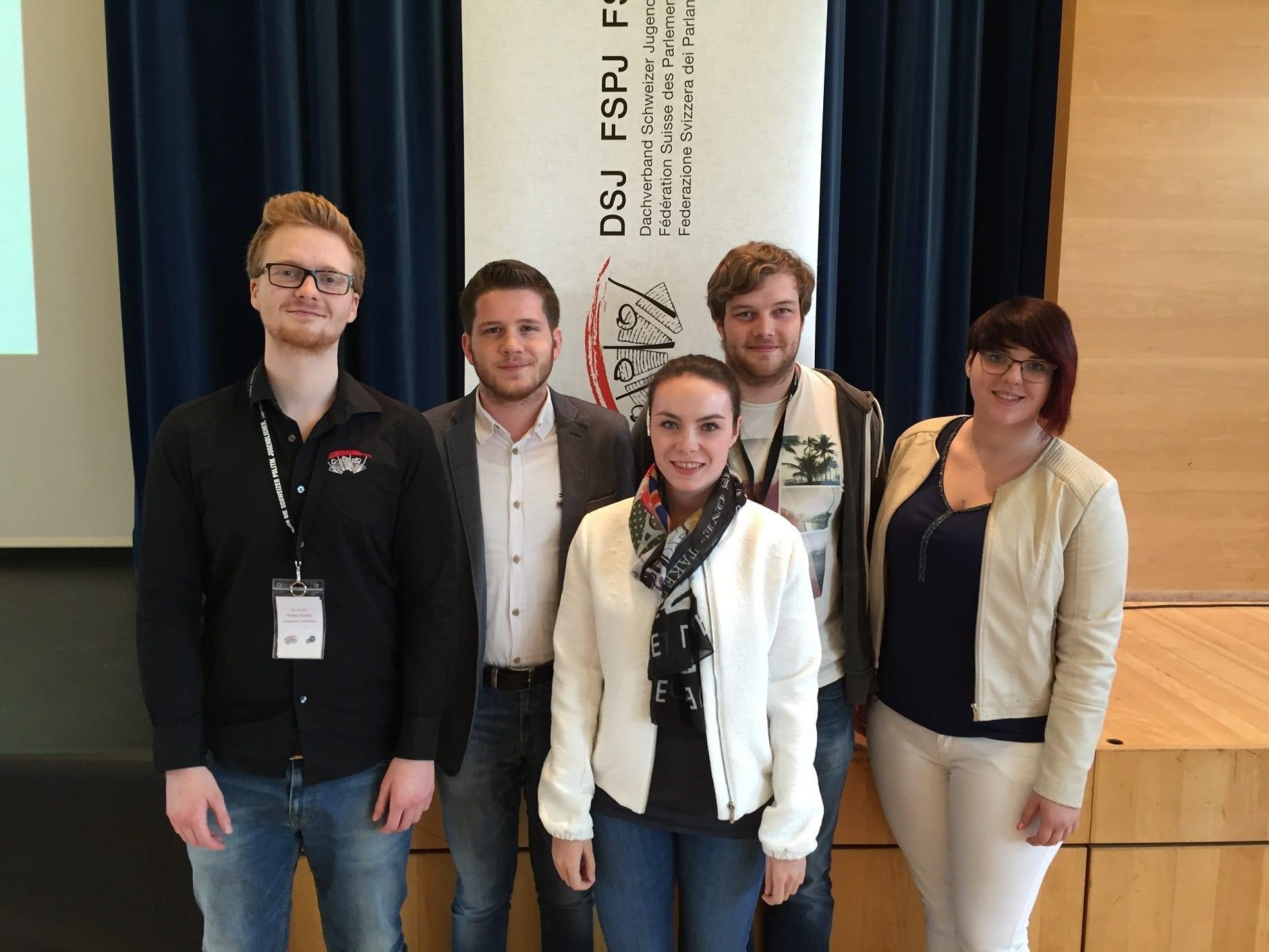 Wiederwahl von Florian Ramos in den Vorstand des Dachverbands Schweizer Jugendparlamente